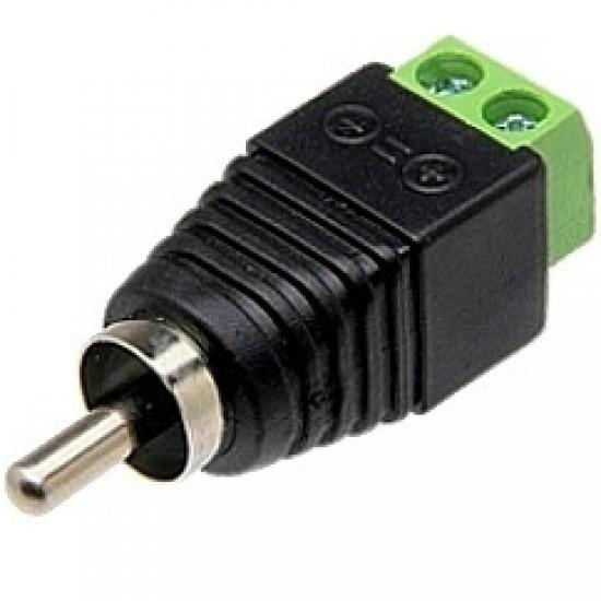 Adaptador Borne De Alimentação Para Plug RCA (Macho) - FL-08