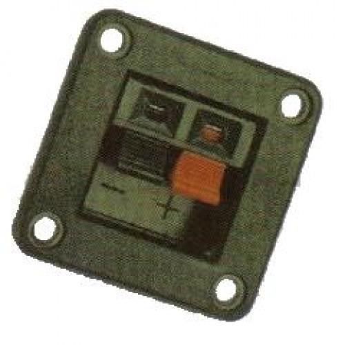 Borne Duplo De Pressão WP2-5 - Quadrado
