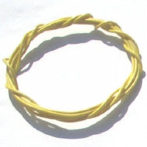 Cabinho Flexível Amarelo 0,1mm 28 AWG (Metro)