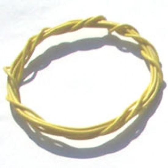 Cabinho Flexivel Amarelo 0,20mm (Metro)