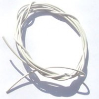 Cabinho Flexível Branco 0,1mm 28AWG (Metro)