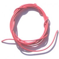 Cabinho Flexível Vermelho 0,1mm 28 AWG (metro)