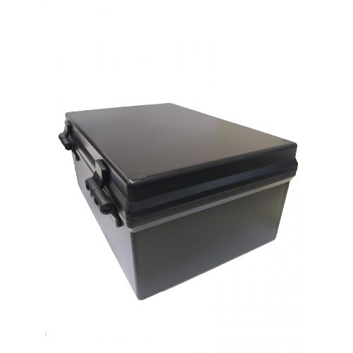 Caixa Patola PB-180/2 Preta Com Dobradiças 100x160x230