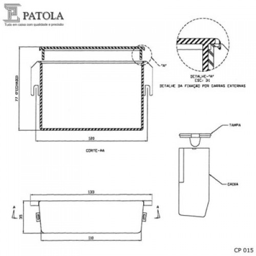 Caixa Patola CP-015 35x110x76