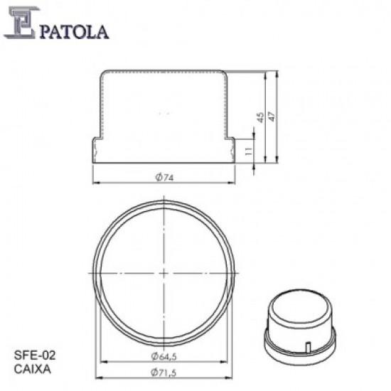 Caixa Patola SFE-02 67x47