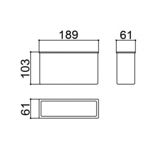 Caixa Patola GPU-01 (CX-CL) 61x103x189mm