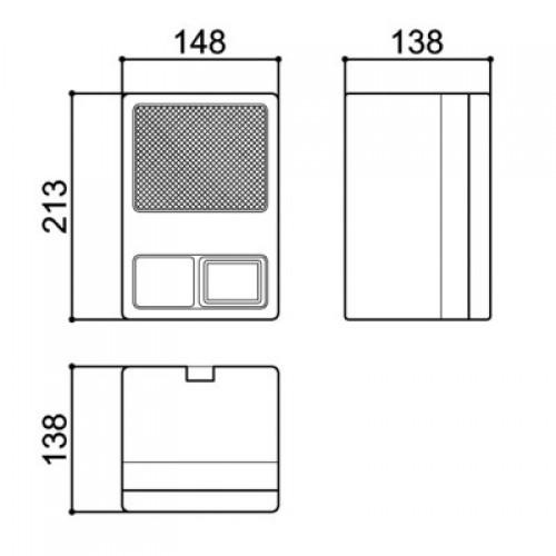Caixa Patola Gabinete Para Som Ambiente GDE 210x145x135mm