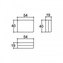 Caixa Patola PB-048 Fechada 19x40x54,5mm