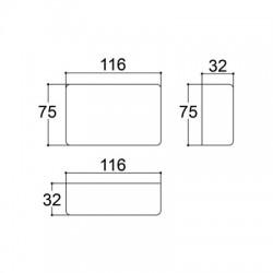 Caixa Patola PB-108 34x75x116mm