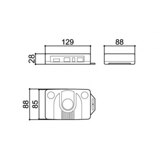 Caixa Patola PB-110 30x85x130mm