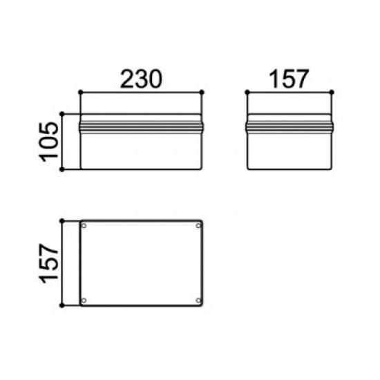 Caixa Patola PB-180 100x160x230