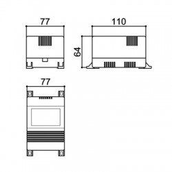 Caixa Patola CF-110/3 Com Aba 64x77x110mm
