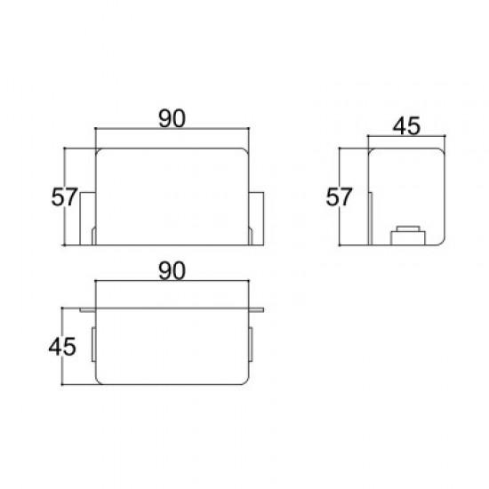 Caixa Patola CP-016/2 45,5x90x57mm
