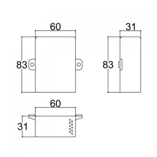 Caixa Patola CP-018 Com 10 Furos 31x60x82mm