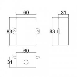 Caixa Patola CP-018 Furo Redondo 31x60x82mm