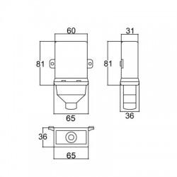 Caixa Patola CP-021 30,6x60x82mm