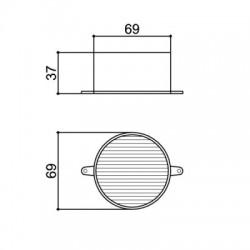 Caixa Patola CR-075 69x69x37mm