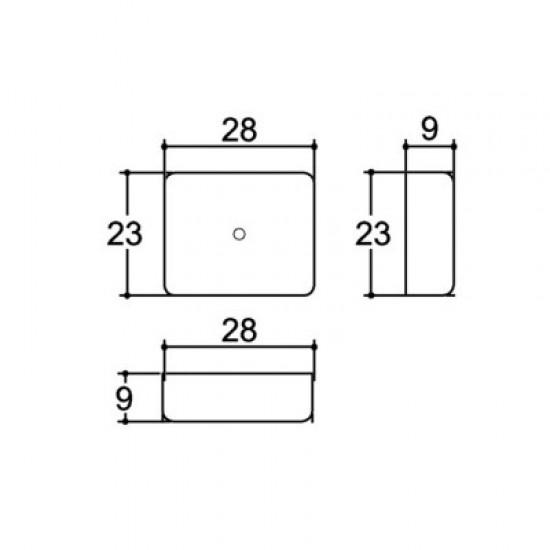 Caixa Patola PB-028 9x23x28mm