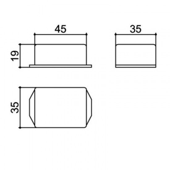 Caixa Patola PB-046/4 20x35x45mm