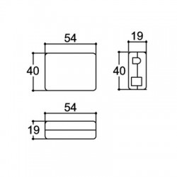 Caixa Patola PB-048 Com Furo 19x40x54,5mm