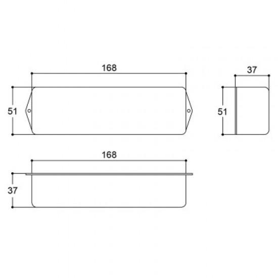 Caixa Patola PB-055/4F 37x51x168mm