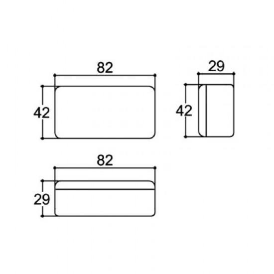 Caixa Patola PB-080 29x43x82,5mm