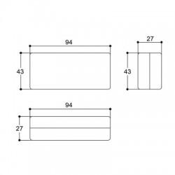 Caixa Patola PB-082 27,3x42,5x94,5mm