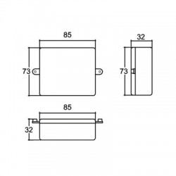 Caixa Patola PB-085/3 32x73x85mm