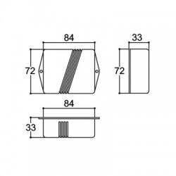 Caixa Patola PB-086 33x73x85mm