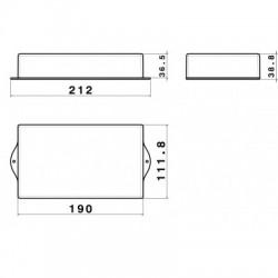 Caixa Patola PB-119/3 TE 39x112x190