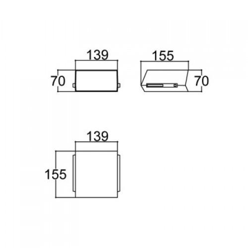 Caixa Patola PB-211 70x137x150mm