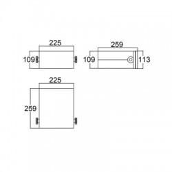 Caixa Patola PB-220/110-8 110x220x240mm