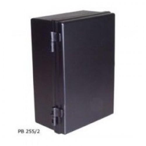 Caixa Patola PB-255/2 Preta Com Dobradiças 110x175x255