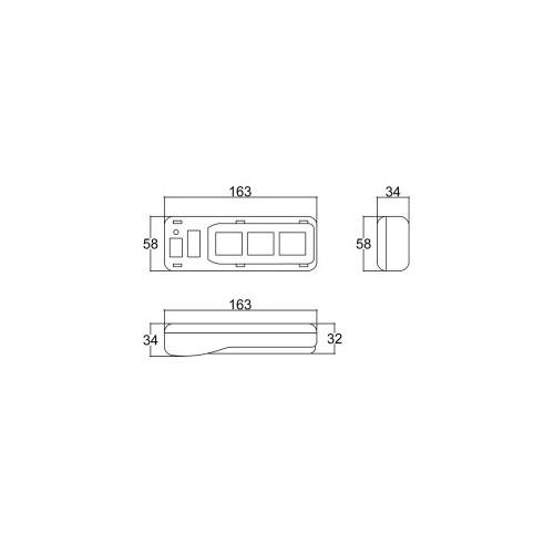 Caixa Patola PB-560/3 34x58x163mm