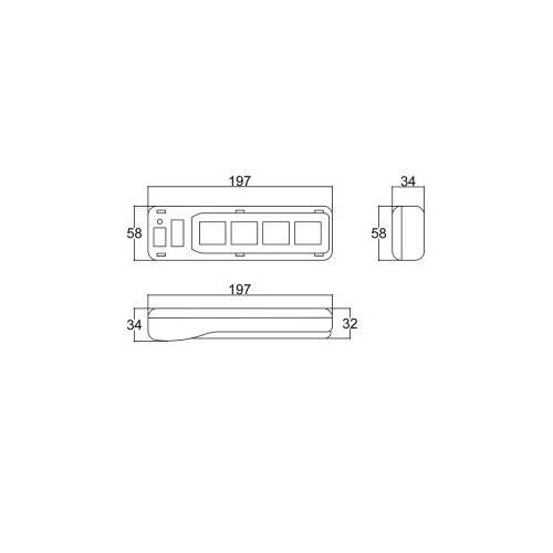 Caixa Patola PB-560/4 34x58x197mm