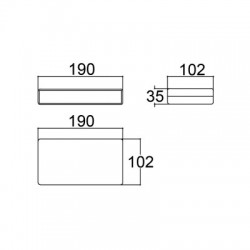 Caixa Patola PB-600 36x190X103mm (AxLxC)