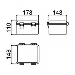 Caixa Patola PBO-403 110x147x176mm