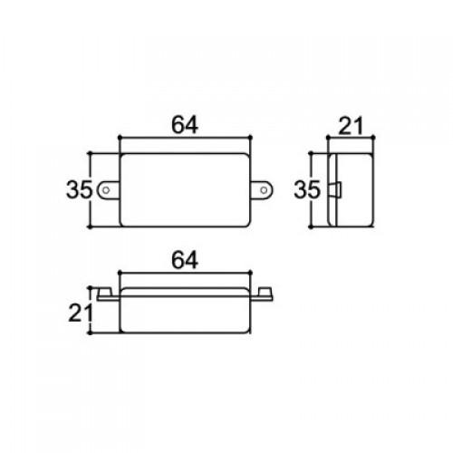 Caixa Patola PBT-064/3 22x36x64mm