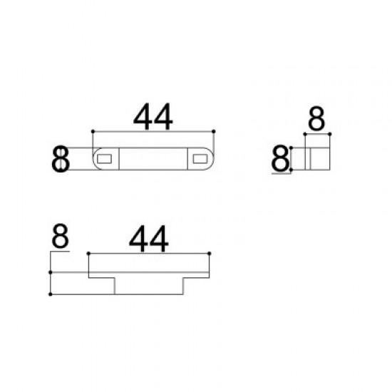 Caixa Patola Reed-001 8x8x25mm