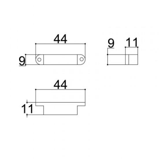 Caixa Patola Reed-002 11x9x30mm