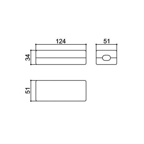 Caixa Patola CF-110/9 34x51x124mm Com Furo Para Passa Fio