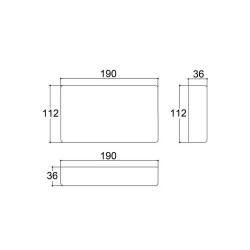 Caixa Patola PB-119/3 36x112x190