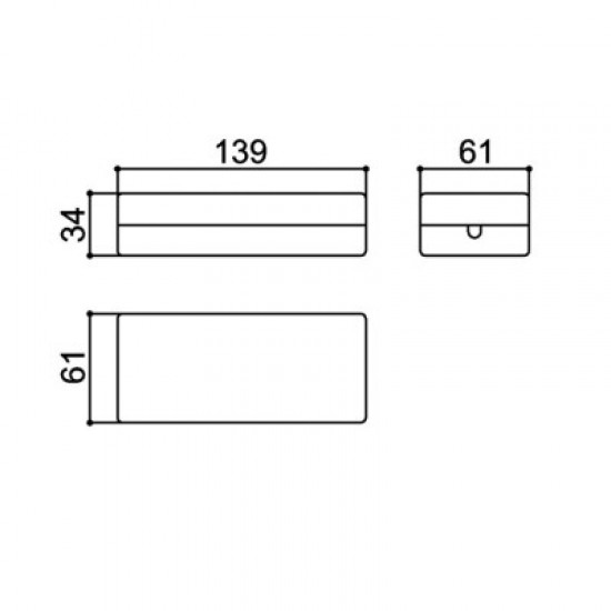 Caixa Patola CF-110/12 34x61x139mm Com Furo Para Passa Fio