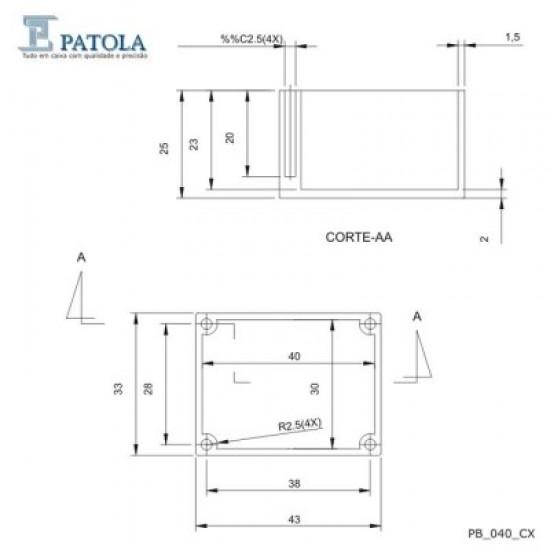 Caixa Patola PB-040 27x33x43
