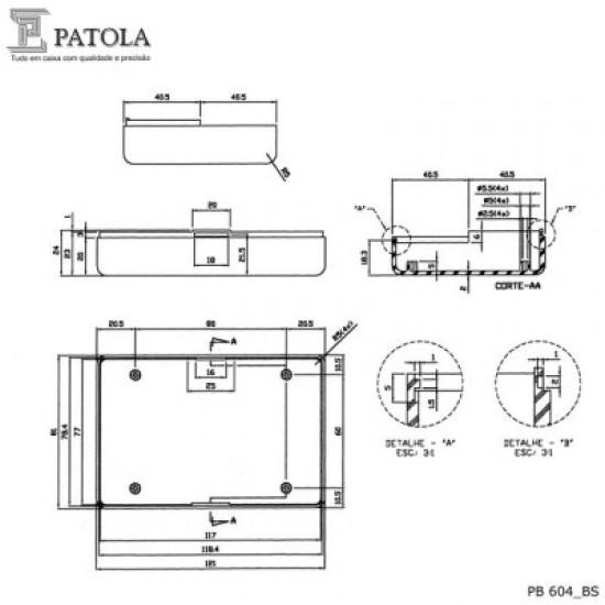 Caixa Patola PB-604 37x81x121