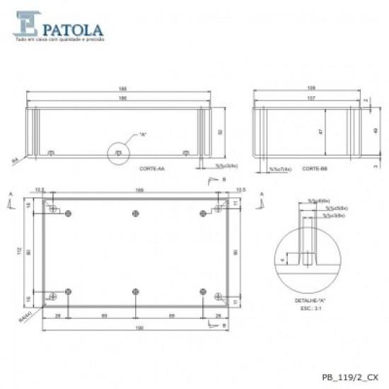Caixa Patola PB-119/2 52x110x190
