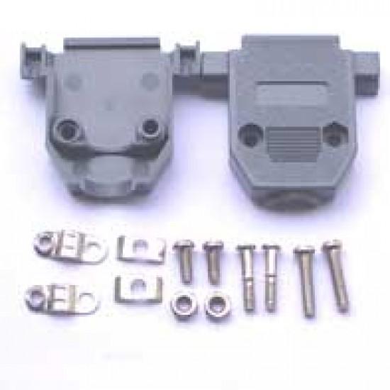 Capa Para Conector DB15 Com Kit Curto Preto/Cinza