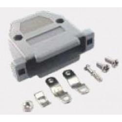 Capa Para Conector DB25 Com Kit Curto Preto/Cinza