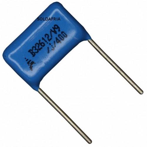 Capacitor Poliester Epcos 180nF X 400V (180KpF/180K/184) B32612