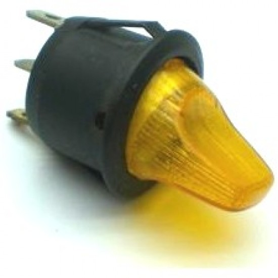 Chave Alavanca MRS-101N Amarela Com Neon (3T Liga/Desliga)